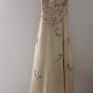 Gold dress size 14 or 3/4.